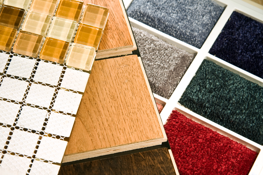 Carpet and tile flooring ideas